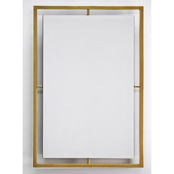 Lustro w stalowej złotej oprawie 60 x 90 cm LW6853