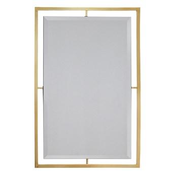 Lustro w stalowej złotej oprawie 100 x 120 cm LW6853