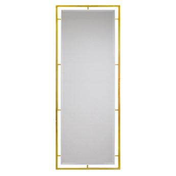 Lustro w stalowej złotej oprawie 80 x 180 cm LW6853