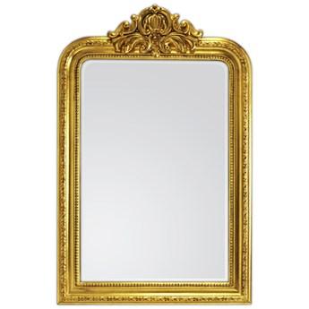 Złote drewniane ozdobne lustro 77 x 120 cm 201-18B