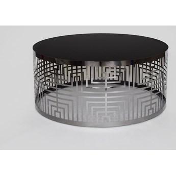 Okrągły stolik kawowy z czarnym blatem  Ø90 CJ936