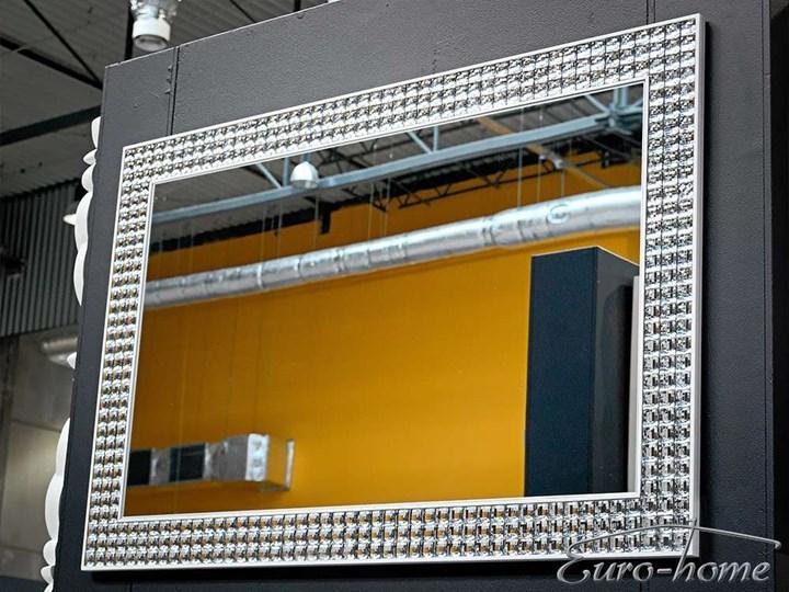 LUSTRO RAMA Z KRYSZTAŁKÓW LW-2031 80x120cm Lustro z ramą Ścienne Prostokątne Kolor Srebrny