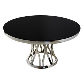 Okrągły stół z dekoracyjną podstawą  art deco Ø128 x 75 cm TH371