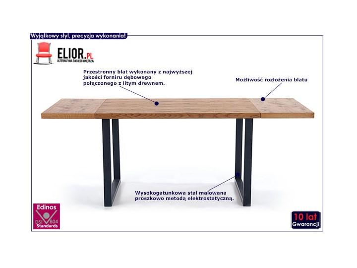 Dębowy stół w stylu loftowym Marco Długość 126 cm Szerokość 80 cm Kolor Czarny Wysokość 76 cm Drewno Kategoria Stoły kuchenne