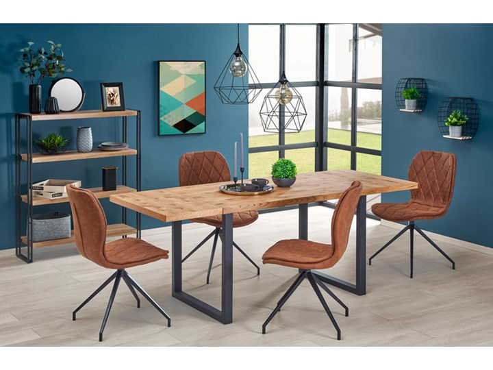 Dębowy stół w stylu loftowym Marco Długość 126 cm Drewno Szerokość 80 cm Wysokość 76 cm Styl Industrialny Styl Minimalistyczny