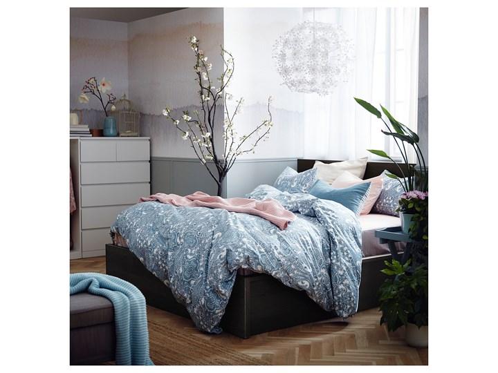 MALM Łóżko z pojemnikiem Łóżko drewniane Kolor Czarny Kategoria Łóżka do sypialni