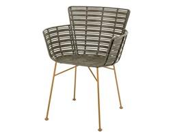 Rattanowe krzesło Coast Lounge zielony włókno syntetyczne