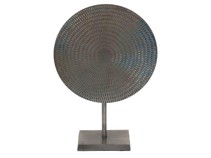 Dekoracja Moon 44cm Metal Kolor Szary Abstrakcja Kategoria Figury i rzeźby
