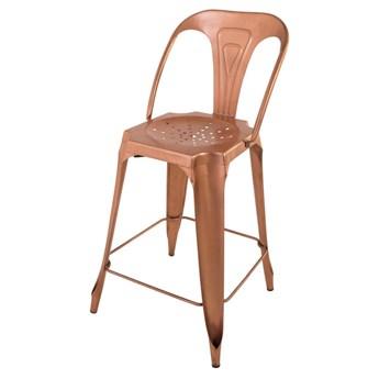 Krzesło Indus miedziany stal 48 x 52 x 96 cm