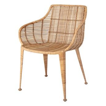Krzesło rattanowe Amira brązowy rattan