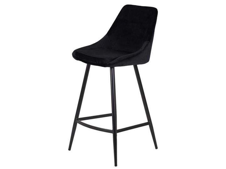 Komplet welurowych krzeseł Bari Nero - 2 szt brązowy welur 40 x 50 x 97 cm