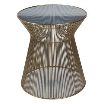 Stolik kawowy Victoria 35,6 x 56 cm brązowy metal