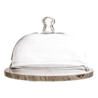 Taca marmurowa ze szklanym kloszem