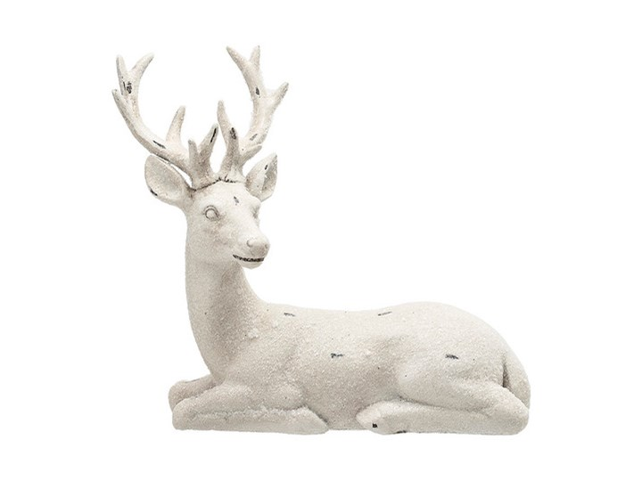 Renifer siedziący 18 x 23 x 6 cm Ceramika Kategoria Figury i rzeźby