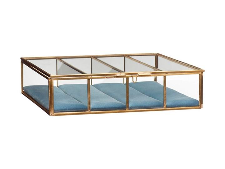 Duża szkatułka szklana 24x24x6 szkło