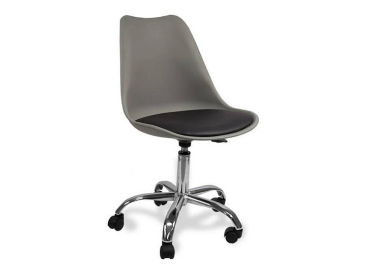 Krzesło obrotowe SOA do biurka biurowe z poduszką szaro czarny