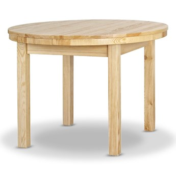 Stół Okrągły Rozciągany Ø103 Drewniany