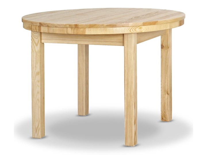 Stół Okrągły Rozciągany Ø103 Drewniany Drewno Pomieszczenie Stoły do kuchni Kategoria Stoły kuchenne