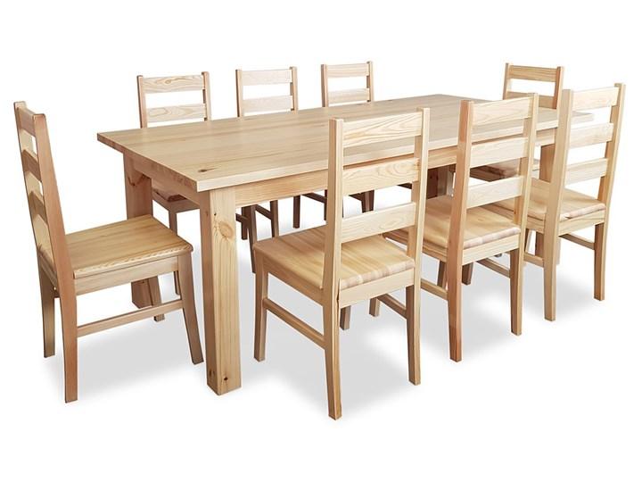 Stół Elon z drewna litego 100x200 Drewno Długość 200 cm  Drewno Drewno Rozkładanie Styl Rustykalny