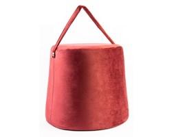 Pufa do przedpokoju z uchwytem, Ø 37 x 33 cm, kolor czerwony