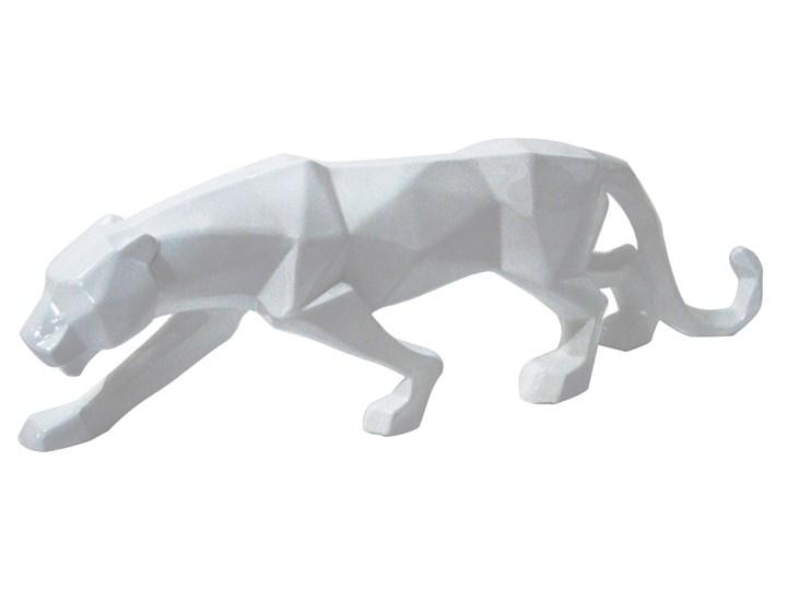 FIGURA A109 PUMA 44x24x9cm BIAŁA Żywica Zwierzęta Metal Drewno Kolor Biały