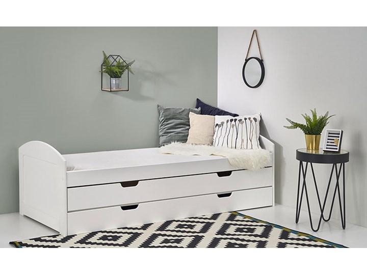 Łóżko dwuosobowe Alvin 90x200 - białe Tradycyjne Rozmiar materaca 90x200 cm