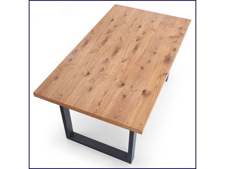 Duży rozkładany stół industrialny Marco 2X Wysokość 76 cm Szerokość 90 cm Drewno Długość 90 cm  Kolor Brązowy