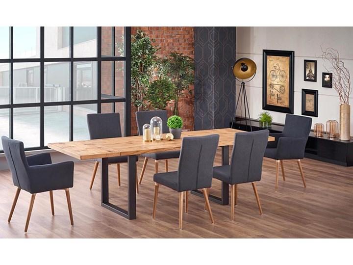 Duży rozkładany stół industrialny Marco 2X Drewno Wysokość 76 cm Długość 90 cm  Szerokość 90 cm Kategoria Stoły kuchenne
