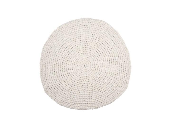 Biały okrągły dywanik Crochet 80 z bawełny HOUSE DOCTOR