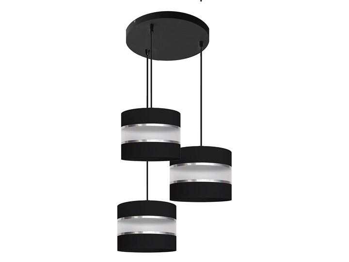 Lampa na kole abażur HELEN W-KD 0801/3 BK+SL+MAT