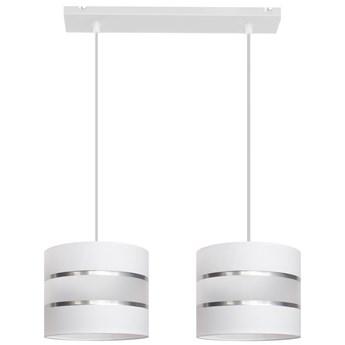 Lampa abażur HELEN W-L 0801/2 WT+SL+MAT