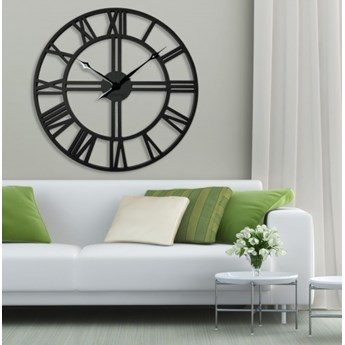 Duży zegar ścienny LOFT 80cm