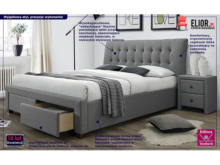 Łóżko Almos 160x200 - szare Łóżko tapicerowane Kategoria Łóżka do sypialni Pojemnik na pościel Z pojemnikiem