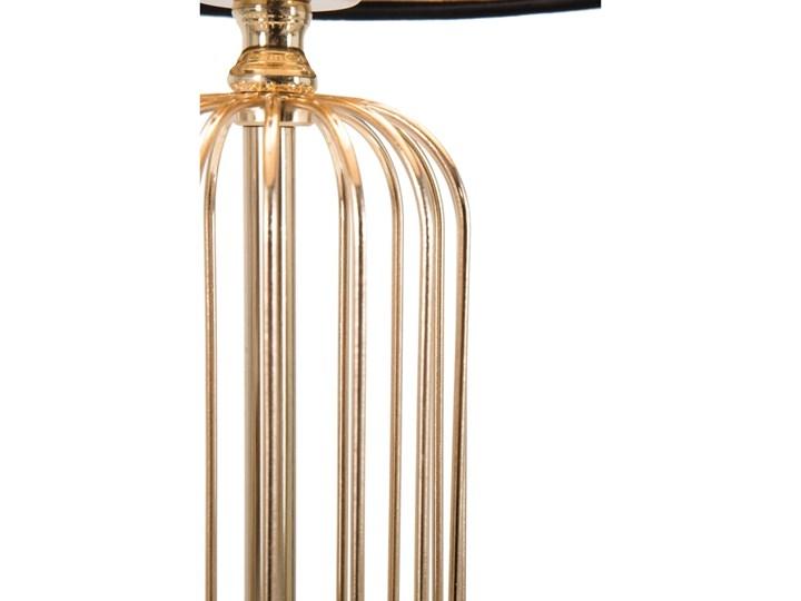 Lampa stołowa w kolorze czarno-złotym Mauro Ferretti Glam Towy, wysokość 51 cm Lampa z abażurem Lampa z kloszem Kategoria Lampy stołowe