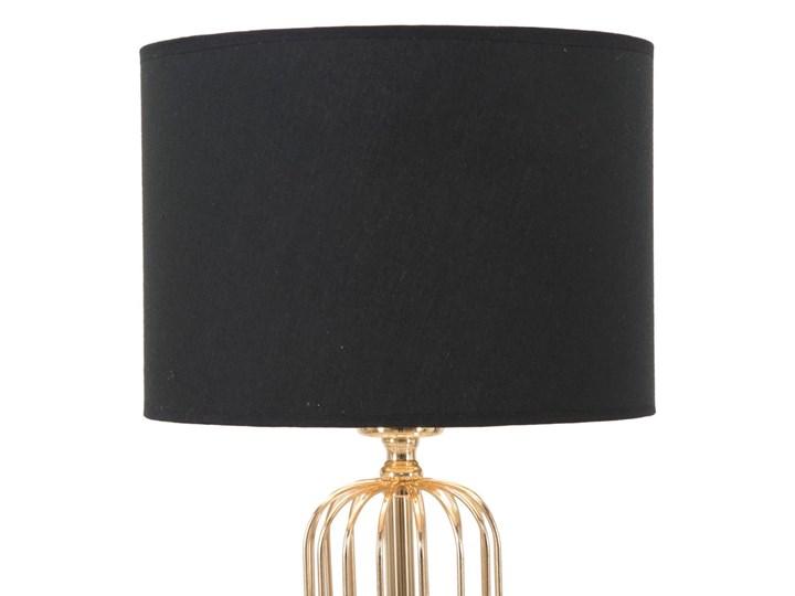 Lampa stołowa w kolorze czarno-złotym Mauro Ferretti Glam Towy, wysokość 51 cm Lampa z kloszem Lampa z abażurem Kategoria Lampy stołowe