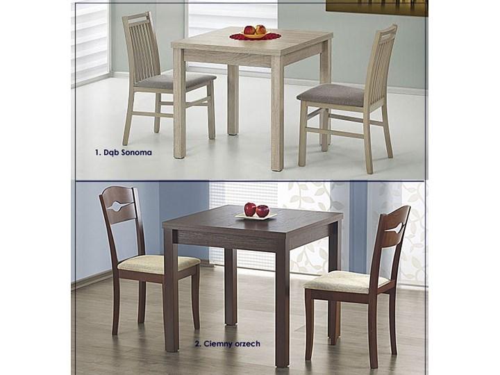 Kwadratowy rozkładany stół kuchenny Cubires - biały + dąb sonoma Długość 80 cm  Wysokość 76 cm Szerokość 80 cm Drewno Rozkładanie