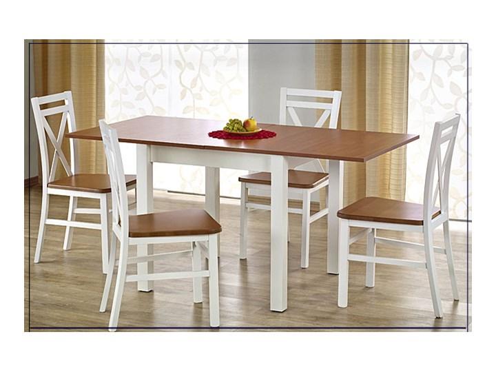 Kwadratowy rozkładany stół kuchenny Cubires - biały + dąb sonoma Szerokość 80 cm Długość 80 cm  Wysokość 76 cm Drewno Rozkładanie Rozkładane