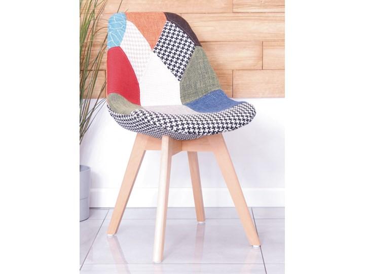 Skandynawskie krzesło tapicerowane CHARLIE TAP A patchwork