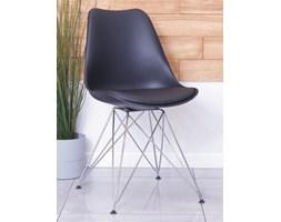 Skandynawskie krzesło z tworzywa CHARLIE B czarne