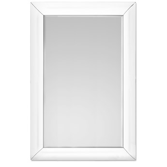 Lustro w giętej białej ramie 80 x 120 cm 15JZ191