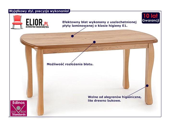Rozkładany stół Dires - Dąb craft Szerokość 80 cm Długość 150 cm  Kategoria Stoły kuchenne Wysokość 75 cm Drewno Kolor Beżowy