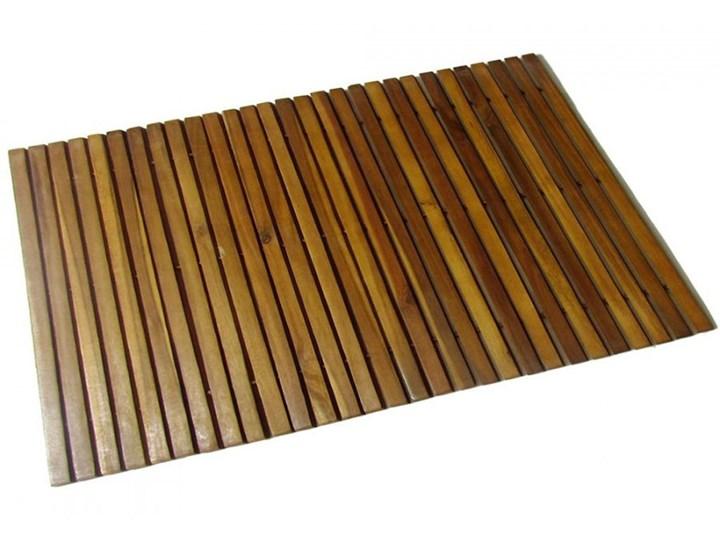 Mata prysznicowa z drewna akacjowego 80 x 50 cm kod: V-41586