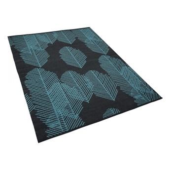 Dywan na zewnątrz ciemnoszary wzór liści 160 x 230 cm dwustronny MEZRA kod: 4251682211352