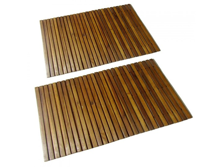 Mata prysznicowa z drewna akacjowego, 2 sztuki, 80 x 50 cm kod: V-271768
