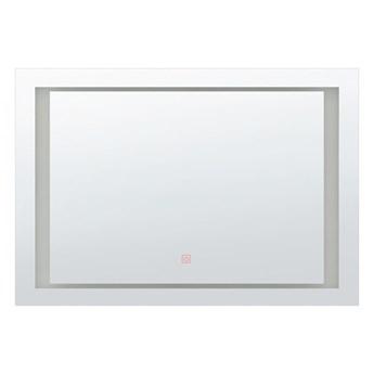 Lustro ścienne LED 60 x 80 cm srebrne EYRE kod: 4251682216203