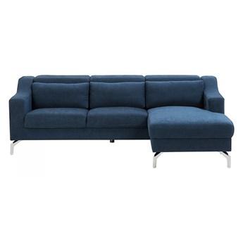 Sofa narożna tapicerowana ciemnoniebieska GLOSLI kod: 4251682200516