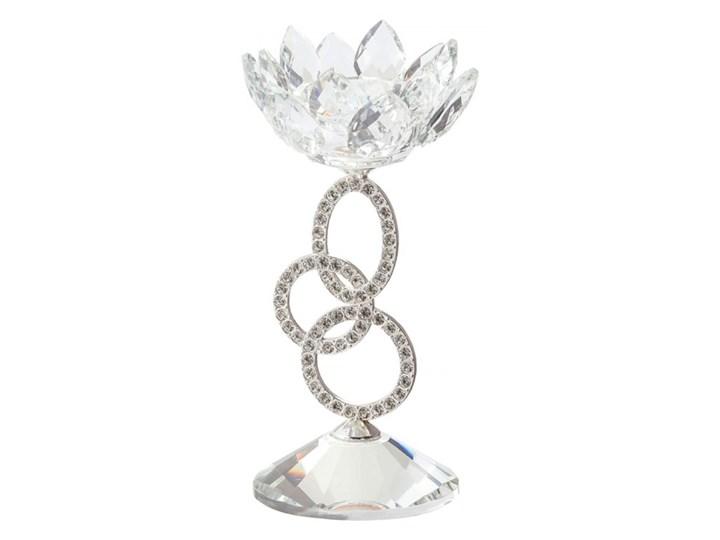 Świecznik niski srebrny OVIEDO kod: 5901162705787