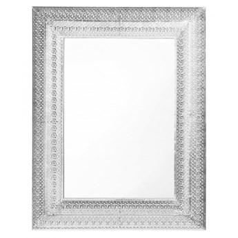 Lustro ścienne srebrne 70 x 90 cm PORDIC kod: 4251682210416