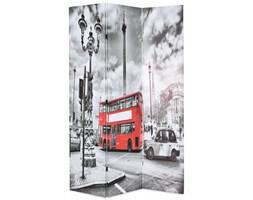 Składany parawan, 120 x 180 cm, londyński autobus, czarno-biały kod: V-245873