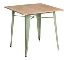 Stół 76x76cm Paris Wood zielony jasny/sosna naturalna kod: 5902385705103